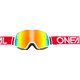 ONeal B-20 Goggles FLAT ruby red/white-radium